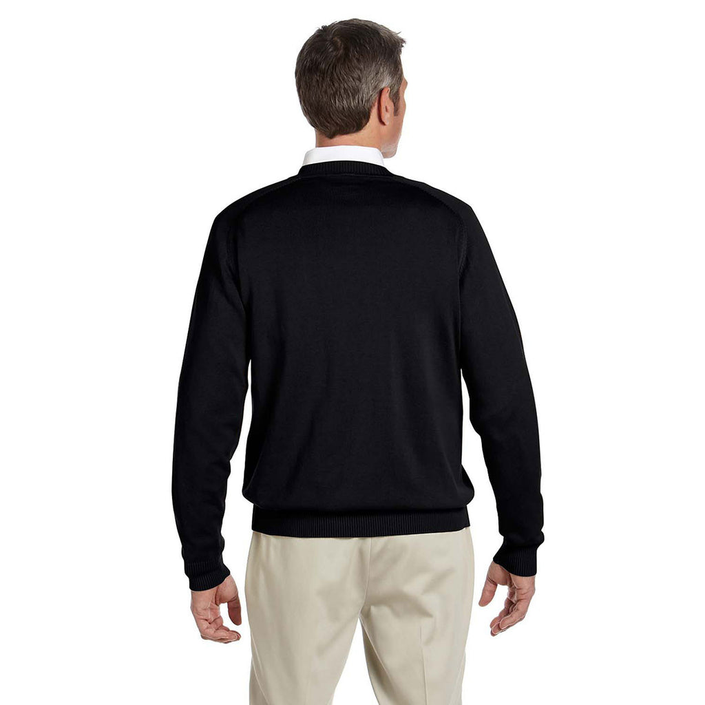 Devon & Jones Men's Black V-Neck Sweater