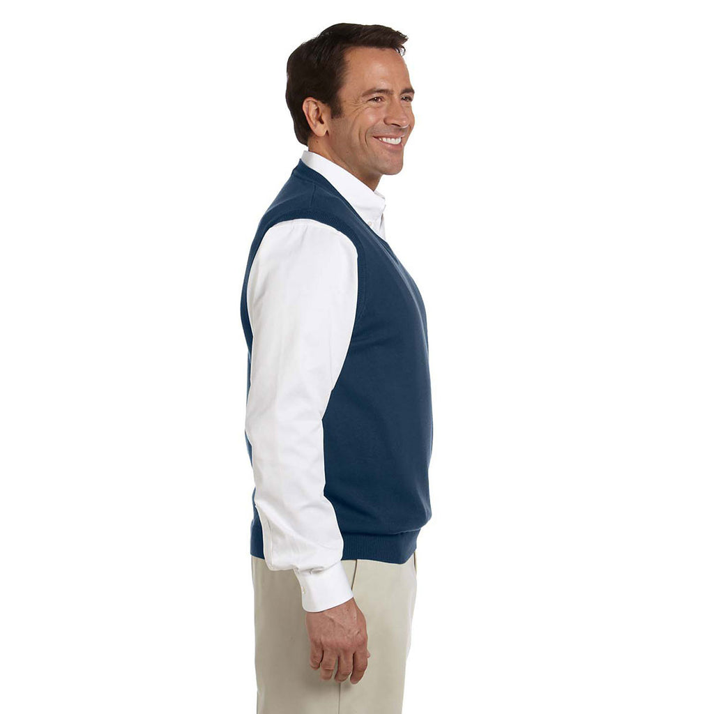 Devon & Jones Men's Navy V-Neck Vest