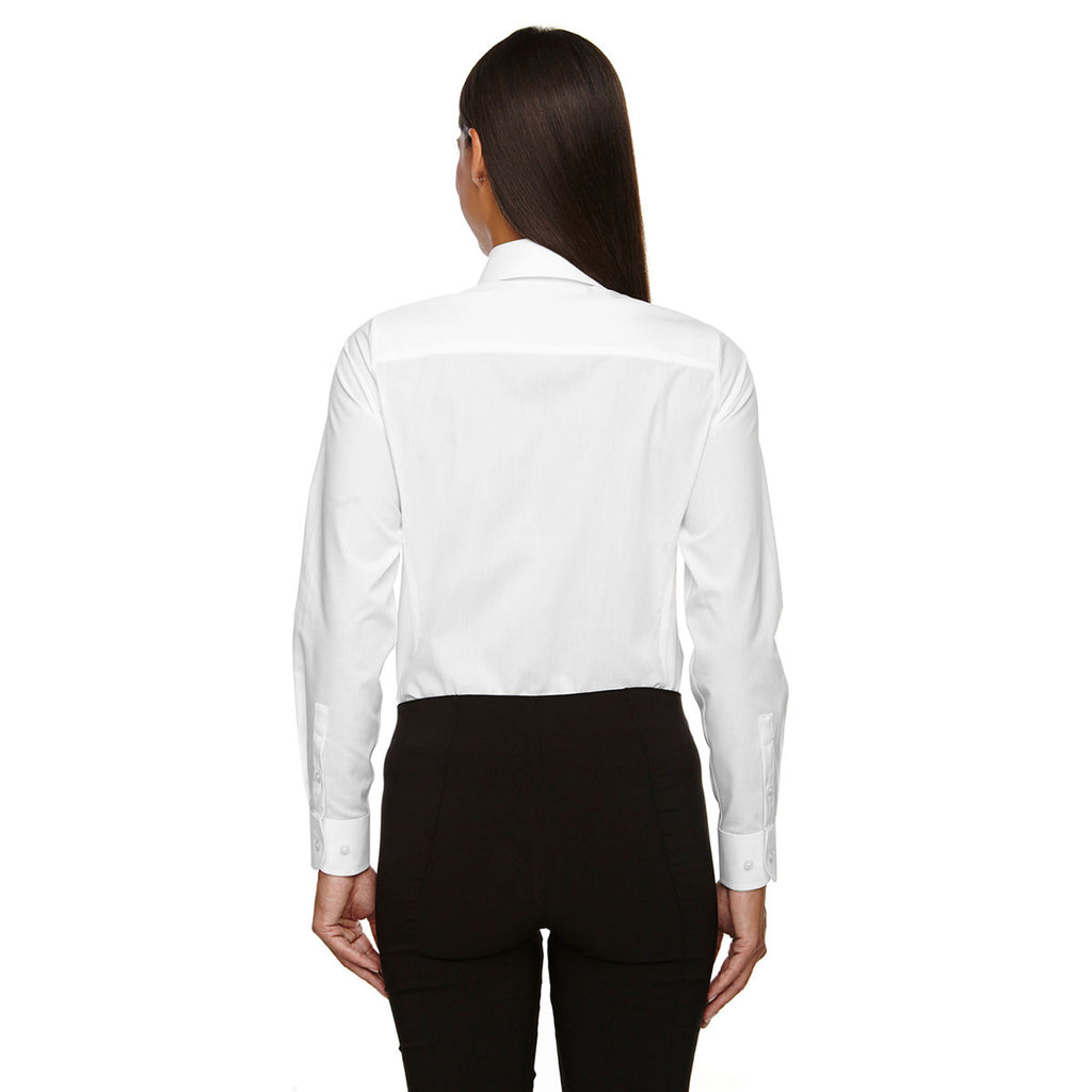 Devon & Jones Women's White Crown Collection Solid Broadcloth