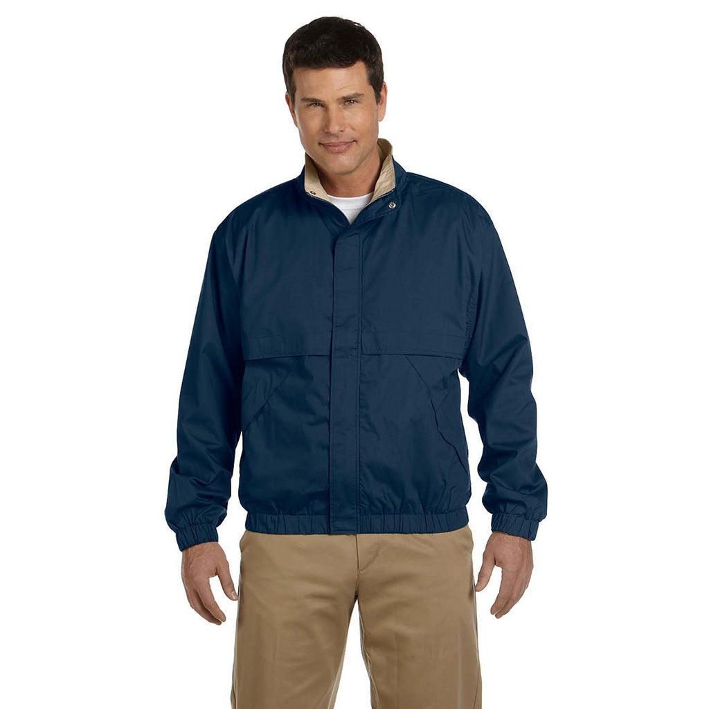 Devon & Jones Men's Navy/Khaki Clubhouse Jacket