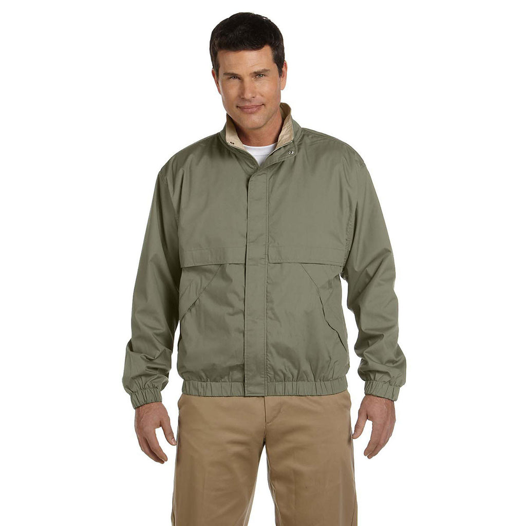 Devon & Jones Men's Olive/Khaki Clubhouse Jacket