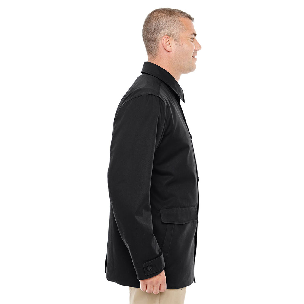 Devon & Jones Men's Black Sullivan Harbor Trench