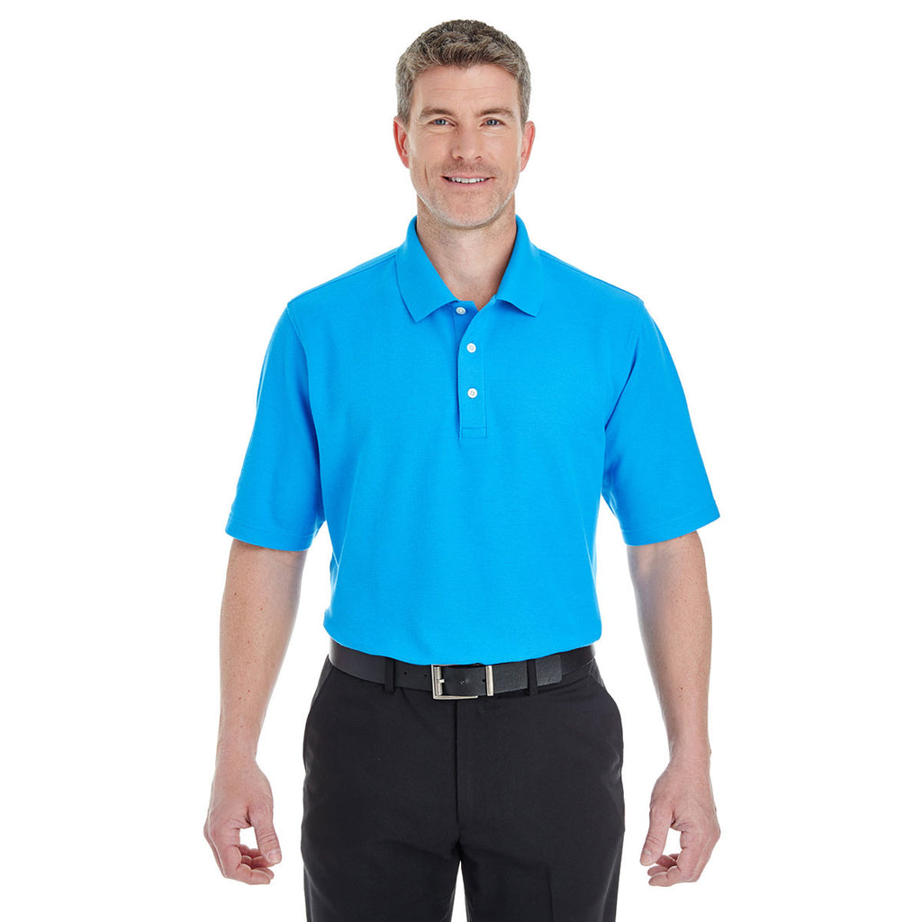 Devon & Jones Men's Ocean Blue Drytec 20 Performance Polo