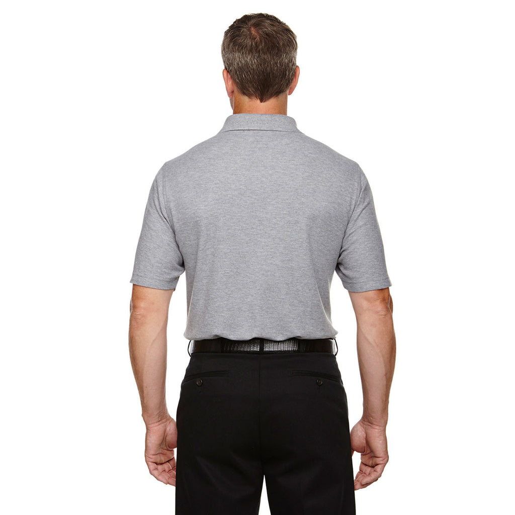 Devon & Jones Men's Grey Heather Drytec 20 Performance Pocket Polo