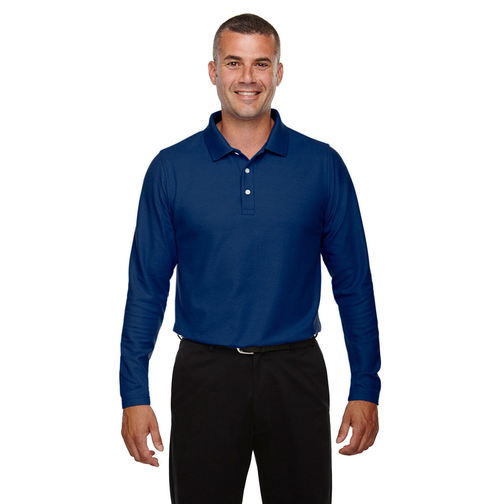 Devon & Jones Men's True Royal Drytec 20 Performance Long-Sleeve Polo