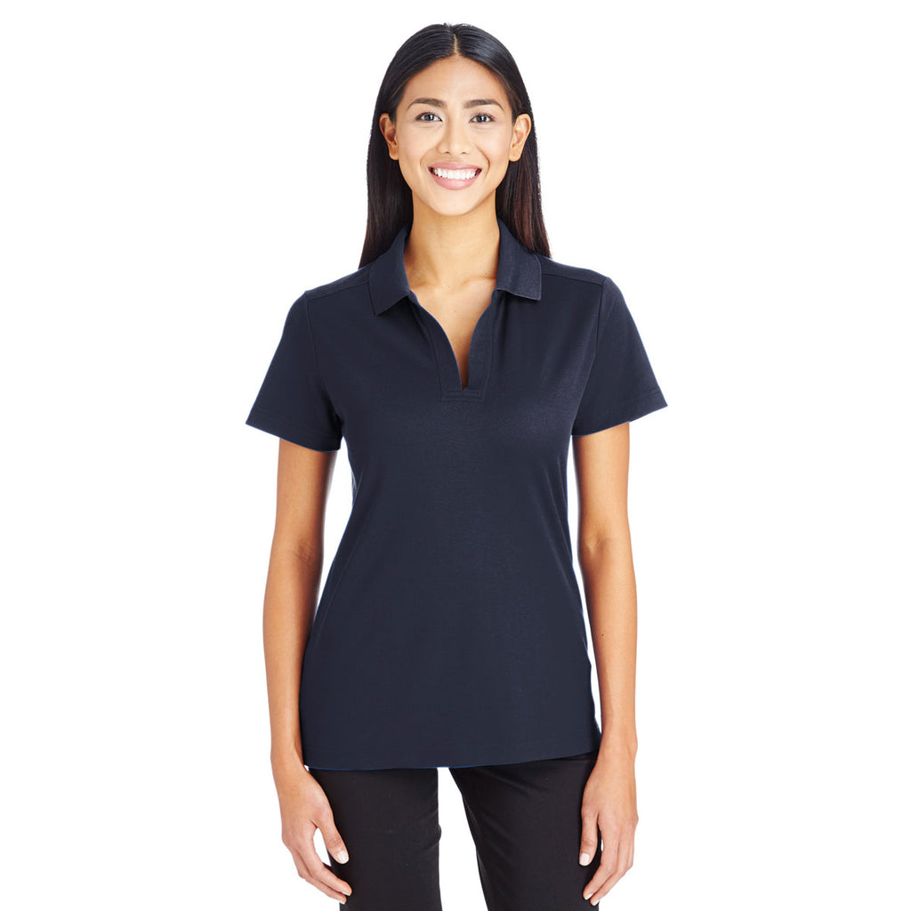 Devon & Jones Women's Navy CrownLux Performance Polo