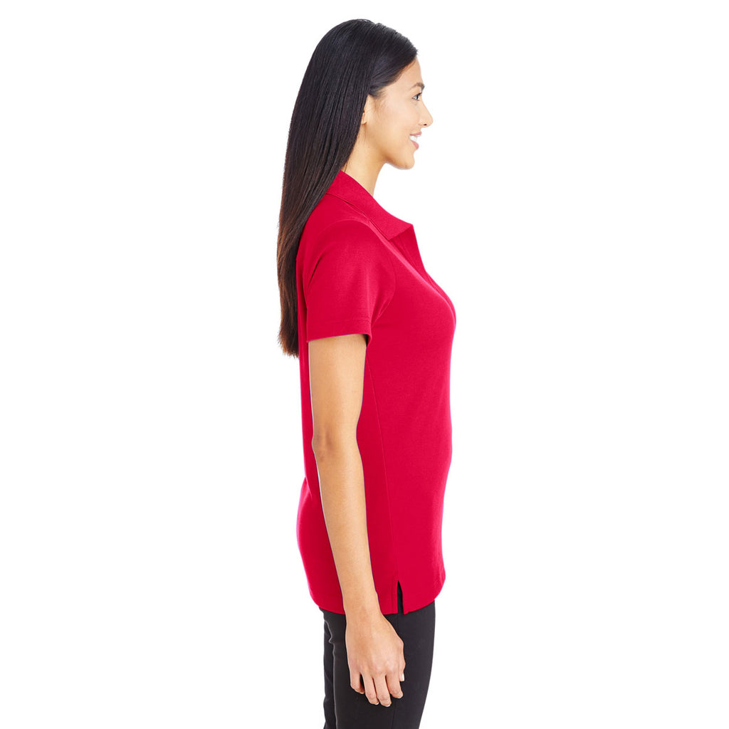 Devon & Jones Women's Red CrownLux Performance Polo