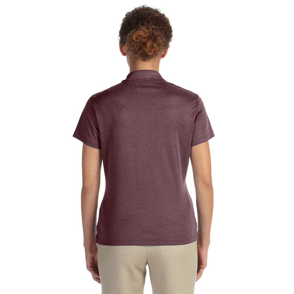 Devon & Jones Women's Burgundy Heather Pima-Tech Jet Pique Heather Polo