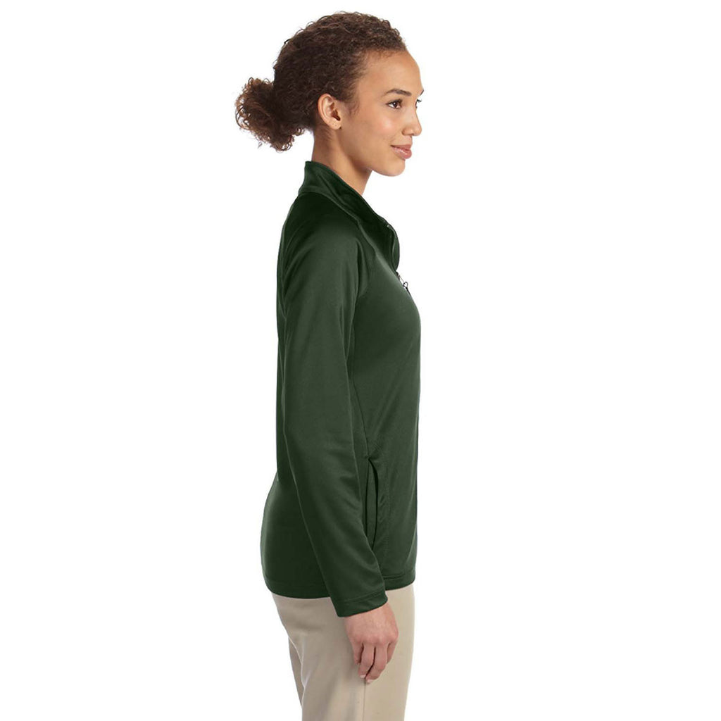 Devon & Jones Women's Forest Heather Stretch Tech-Shell Compass Full-Zip