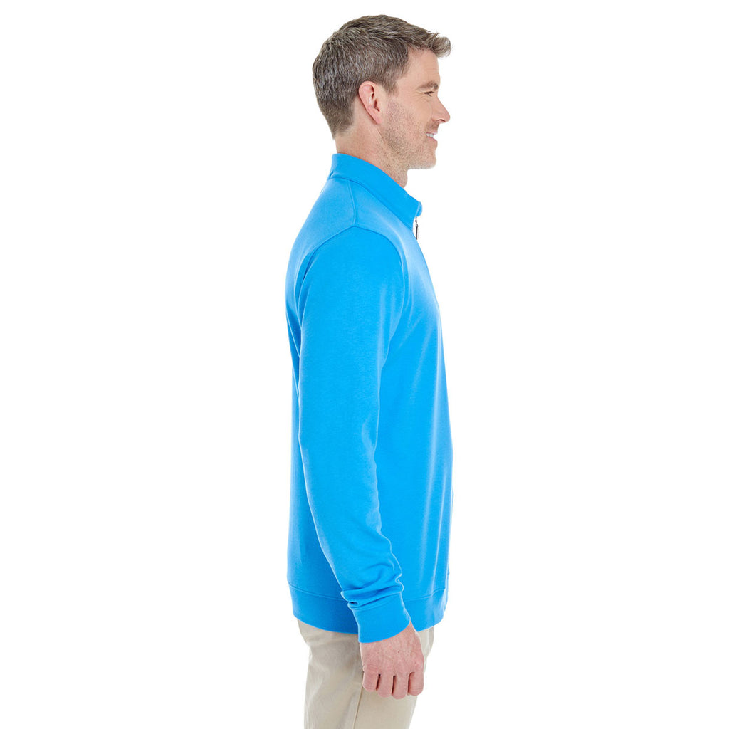 Devon & Jones Men's Ocean Blue/Navy/Ocean Blue Drytec 20 Performance Quarter-zip