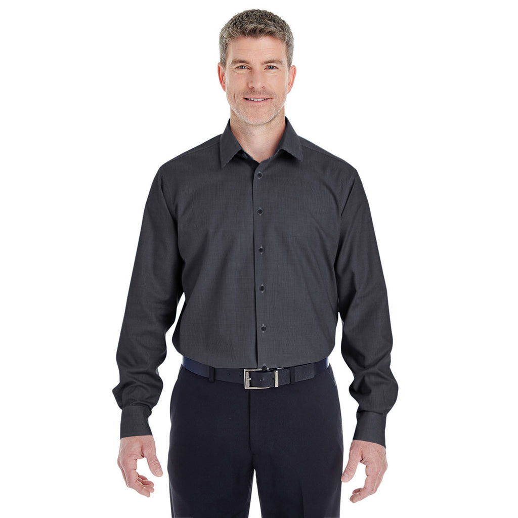 Devon & Jones Men's Black Crown Collection Royal Dobby Shirt