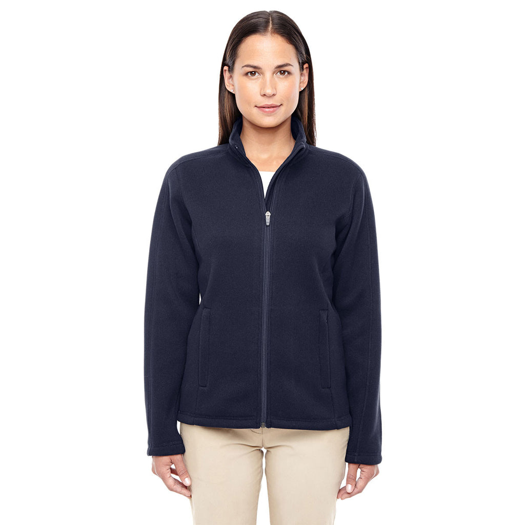 af31894a8e6e Devon   Jones Women s Navy Bristol Full-Zip Sweater Fleece Jacket. ADD YOUR  LOGO