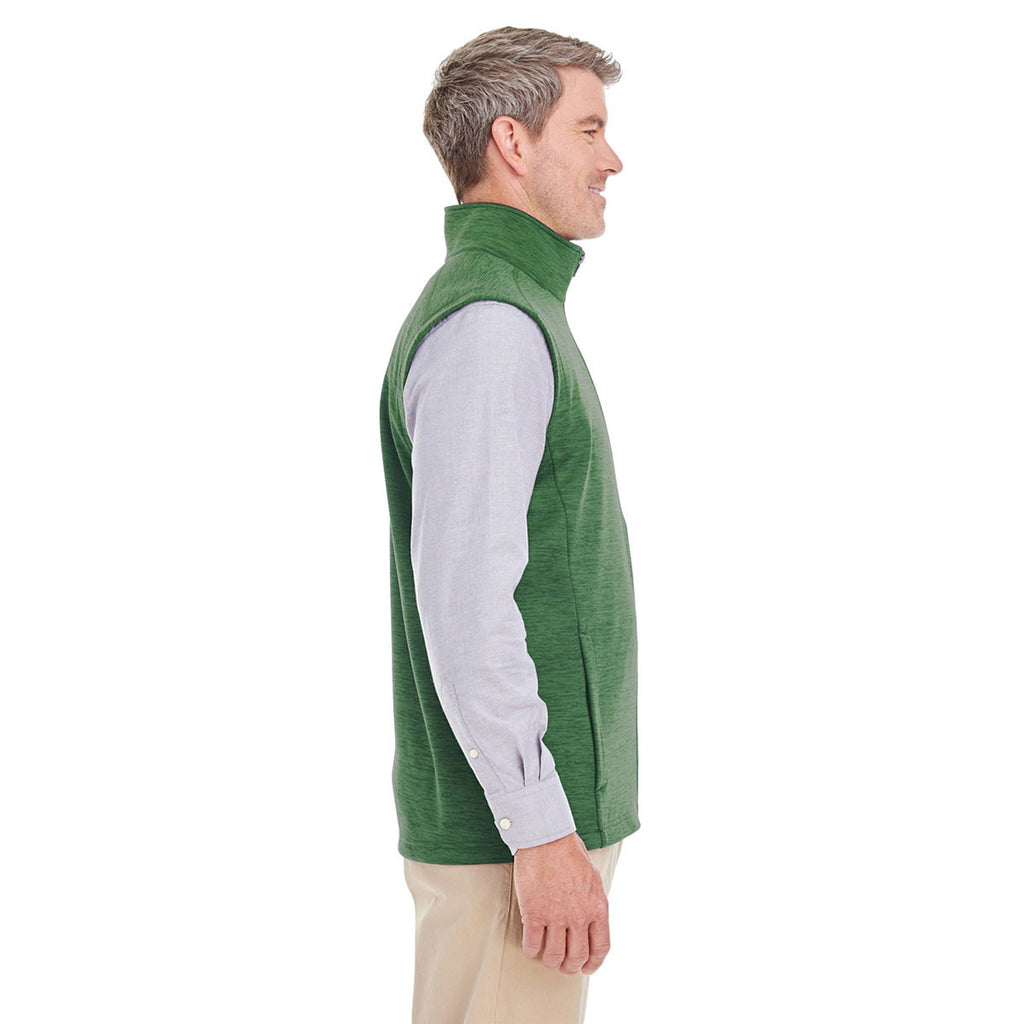 Devon & Jones Men's Forest Heather Newbury Melange Fleece Vest