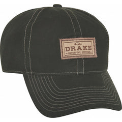 Drake Waterfowl Olive 6-Panel Waxed Patch Cap 755b85cae832