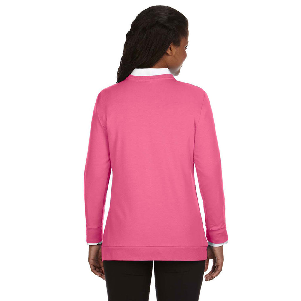 Devon & Jones Women's Charity Pink Perfect Fit Ribbon Cardigan