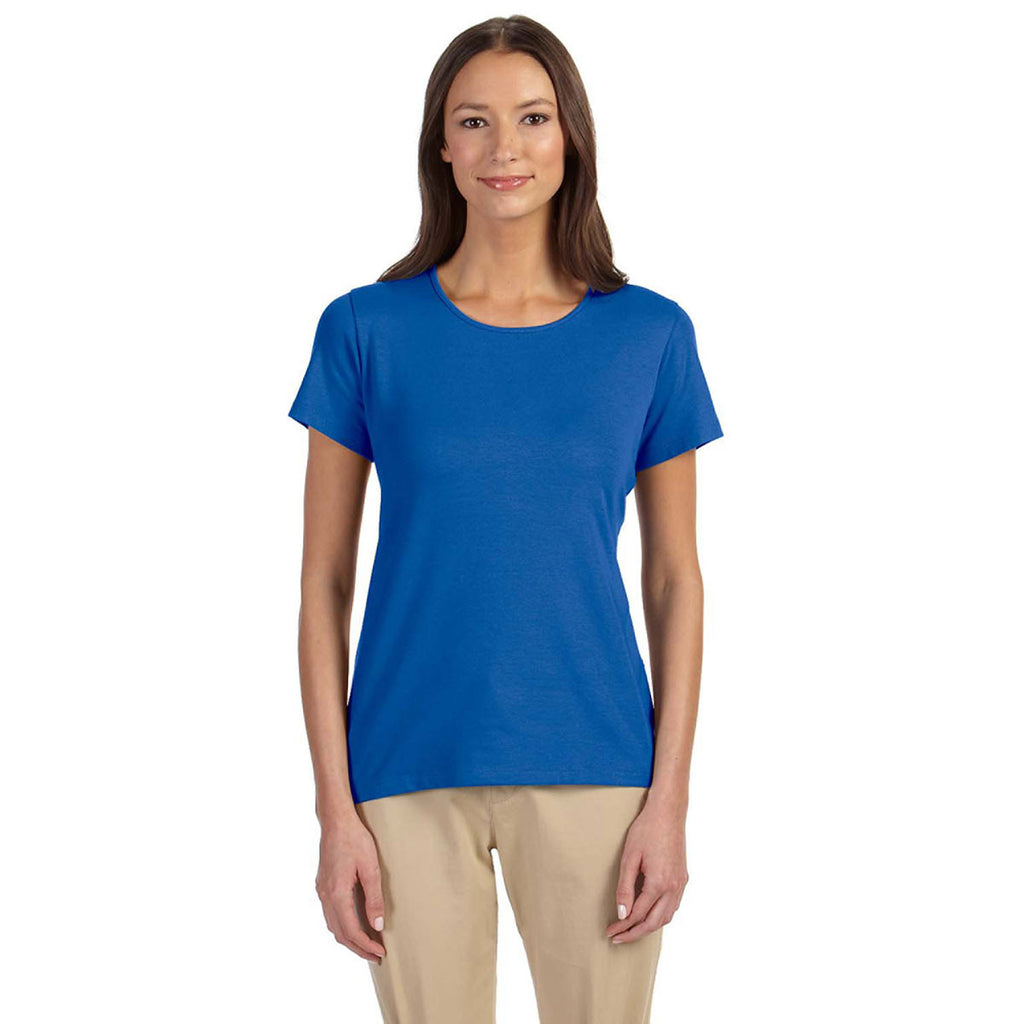 Devon jones women 39 s french blue perfect fit shell t shirt for French blue t shirt