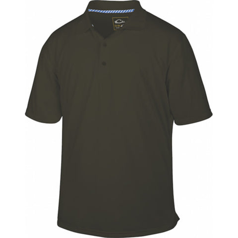 8f716d5a1a67f Drake Waterfowl Men's Olive Performance Stretch Polo