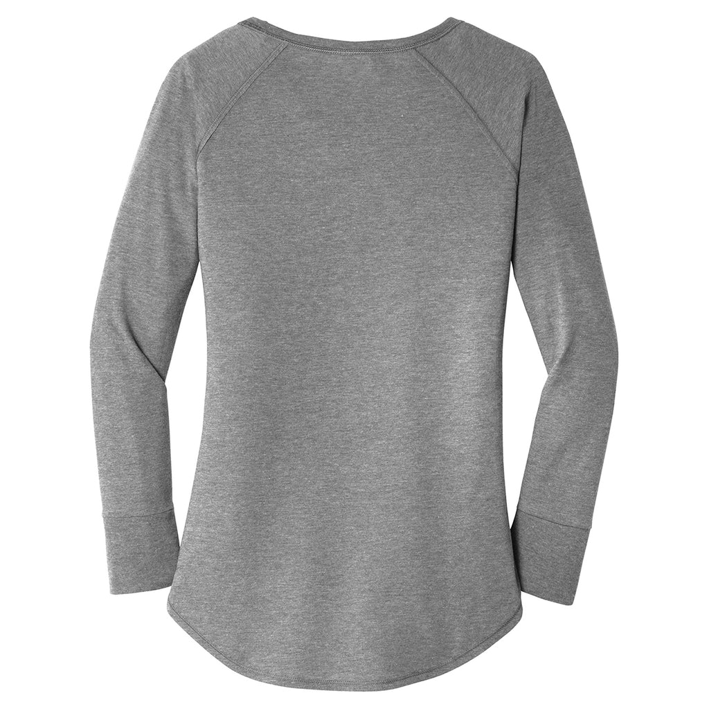 District Women's Grey Frost Perfect Tri Long Sleeve