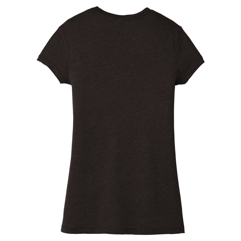 District Women's Black Frost Fitted Perfect Tri Tee