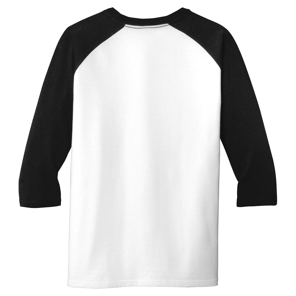 District Youth Black/White Very Important 3/4-Sleeve Tee