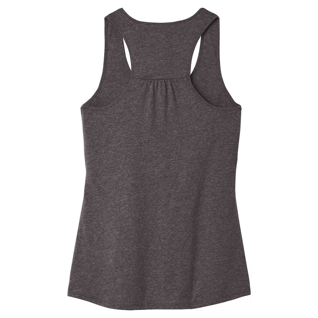 District Women's Heathered Charcoal V.I.T. Gathered Back Tank