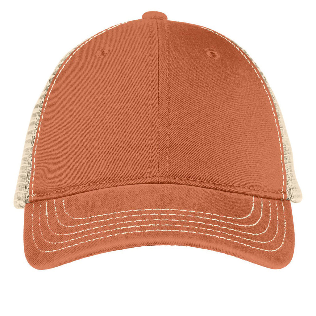 d0e542b2003 District Burnt Orange Stone Super Soft Mesh Back Cap