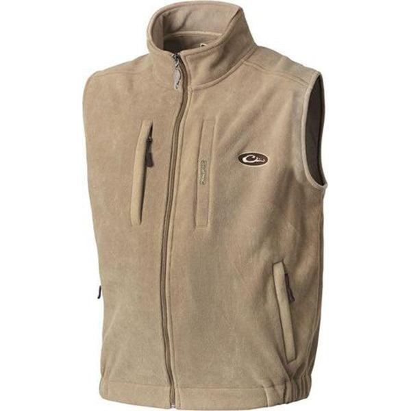 Drake Waterfowl Men S Khaki Mst Solid Windproof Layering Vest