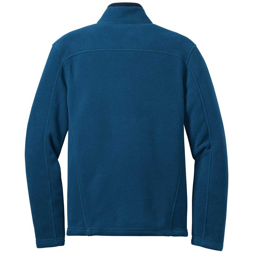 Eddie Bauer Men's Deep Sea Blue Full-Zip Fleece Jacket