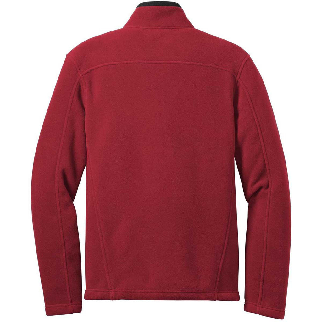 Eddie Bauer Men's Red Rhubarb Full-Zip Fleece Jacket