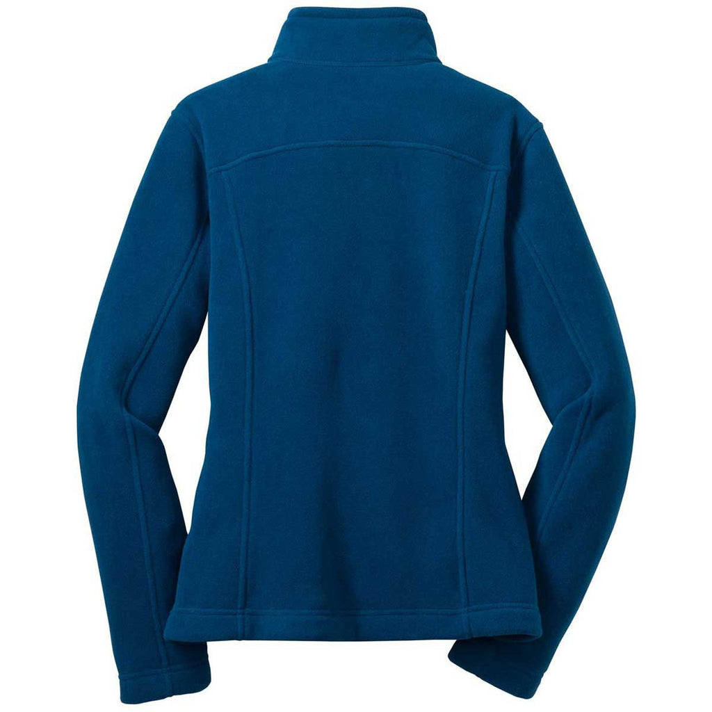 Eddie Bauer Women's Deep Sea Blue Full-Zip Fleece Jacket
