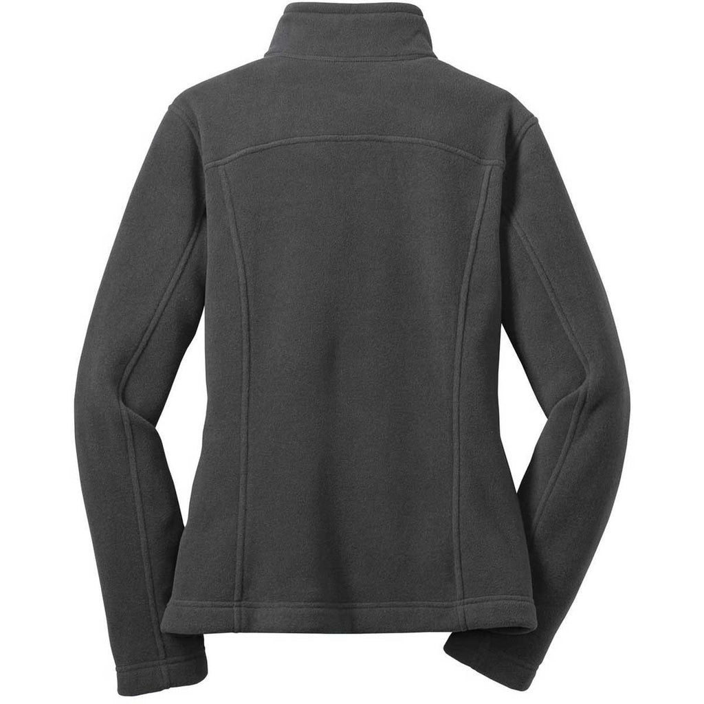 Eddie Bauer Women's Grey Steel Full-Zip Fleece Jacket