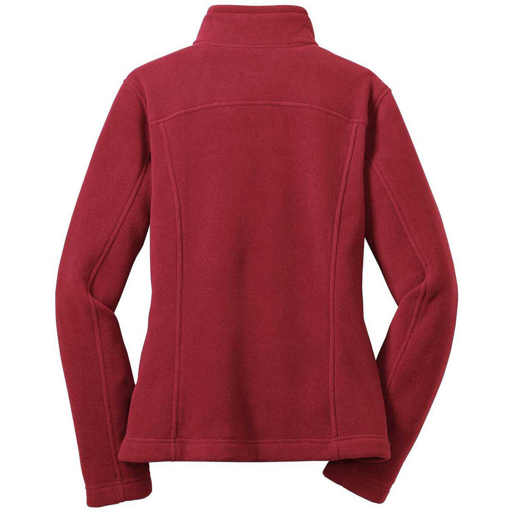 Eddie Bauer Women's Red Rhubarb Full-Zip Fleece Jacket