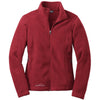 eddie-bauer-red-women-fleece-jacket