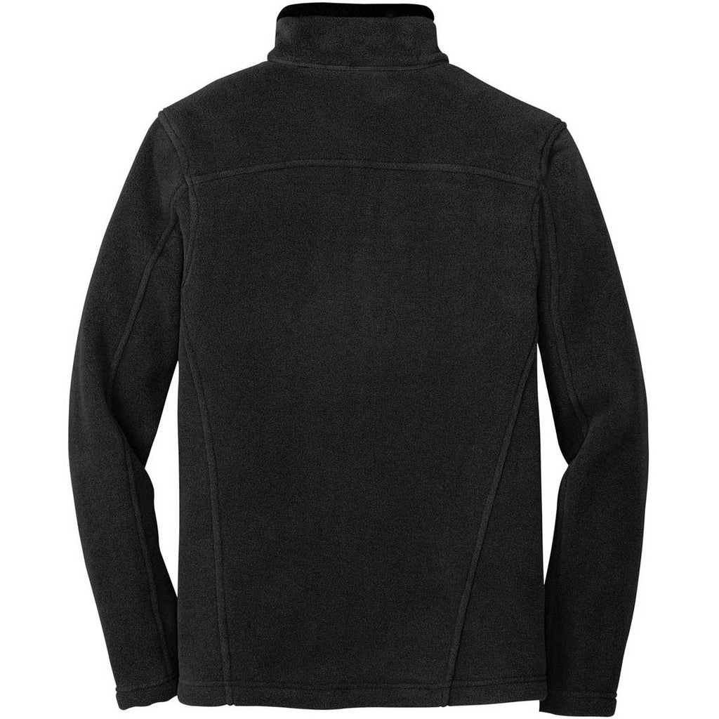 Eddie Bauer Men's Black Quarter-Zip Fleece Pullover