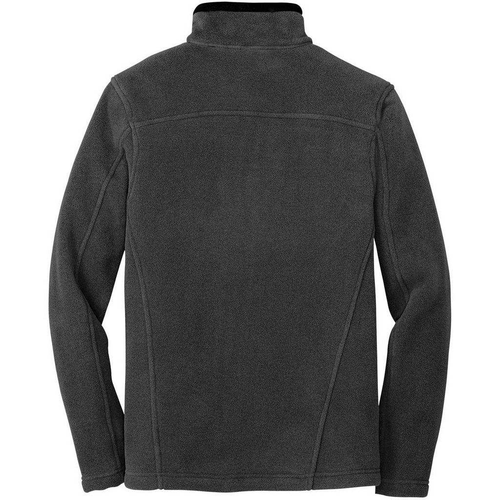 Eddie Bauer Men's Grey Steel Quarter-Zip Fleece Pullover