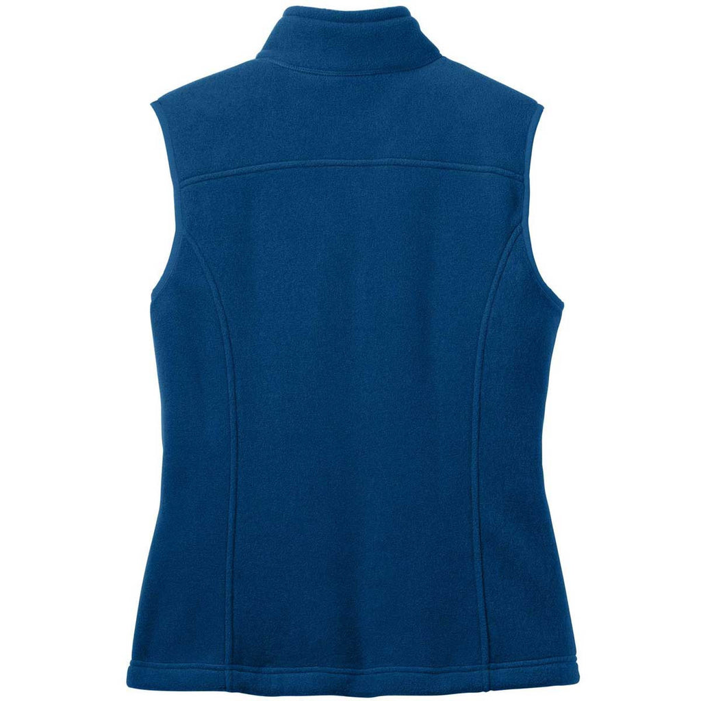 Eddie Bauer Women's Deep Sea Blue Fleece Vest