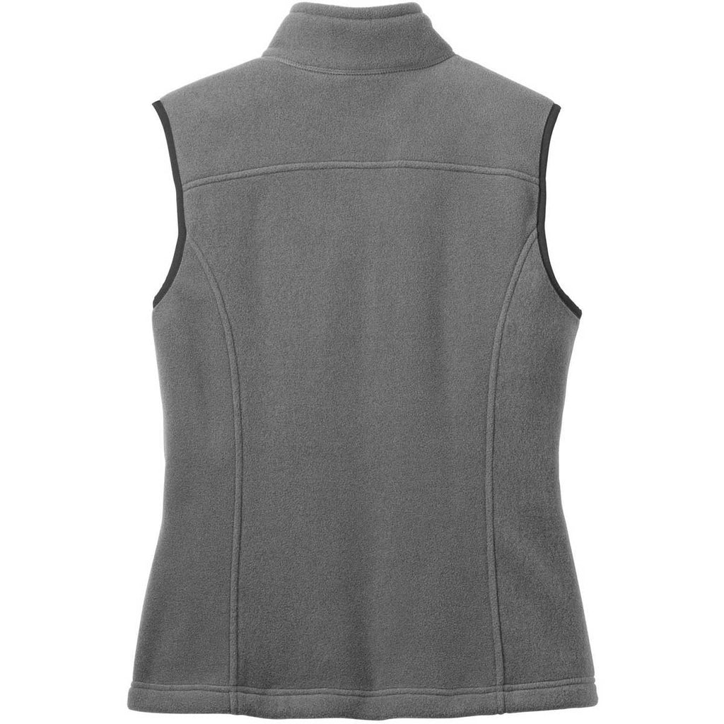 Eddie Bauer Women's Grey Steel Fleece Vest