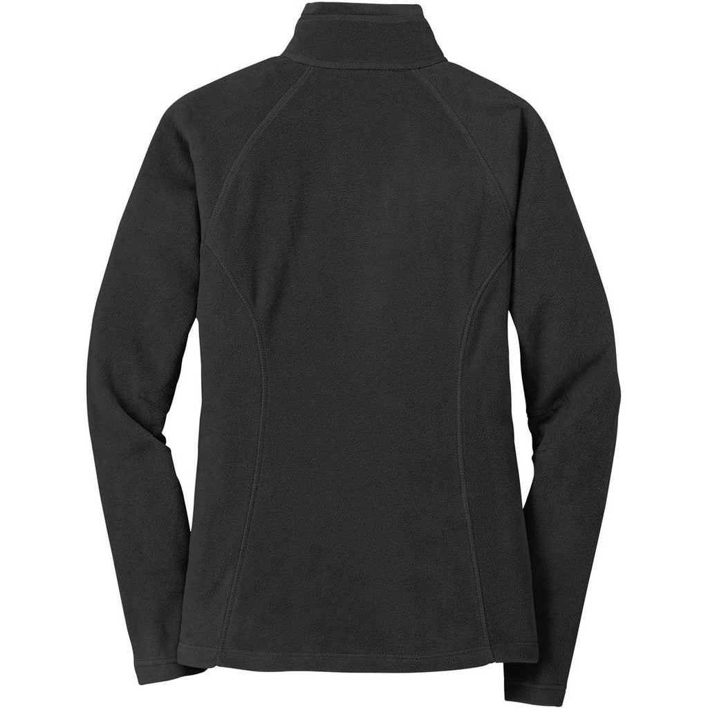 Eddie Bauer Women's Black Full-Zip Microfleece Jacket