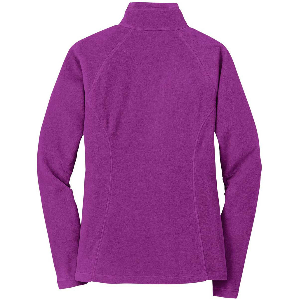 Eddie Bauer Women's Deep Magenta Full-Zip Microfleece Jacket