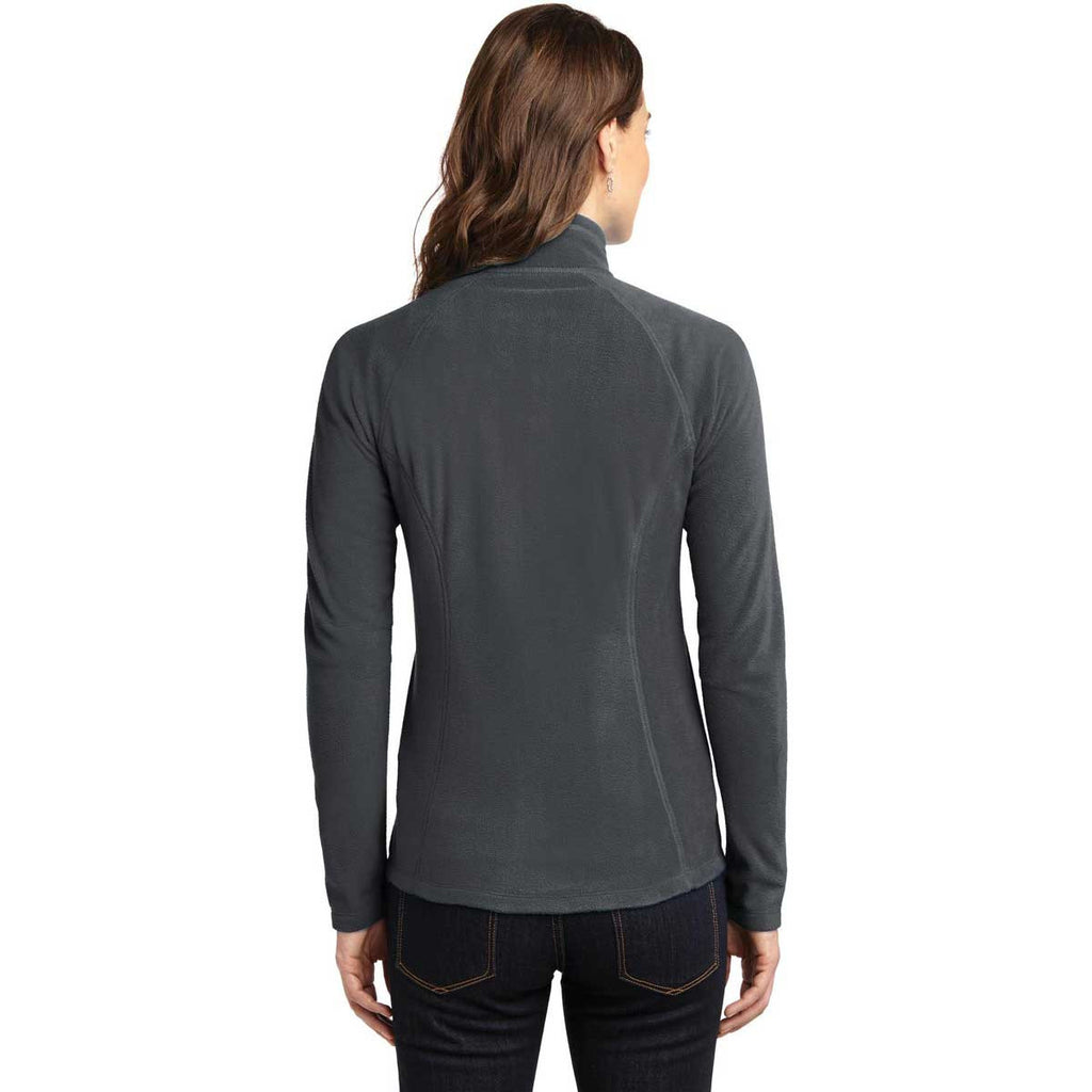 SoftPro - Eddie Bauer Women's Grey Steel Full-Zip Microfleece Jacket
