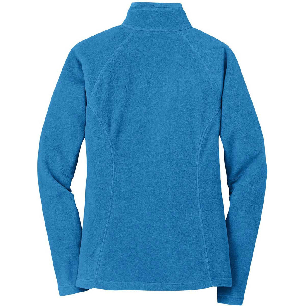 Eddie Bauer Women's Peak Blue Full-Zip Microfleece Jacket