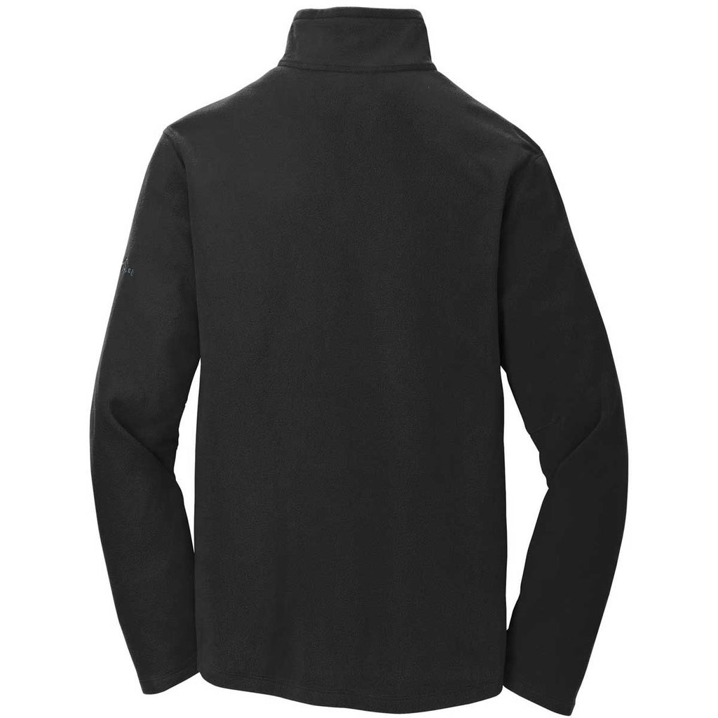 Eddie Bauer Men's Black Half Zip Microfleece Jacket