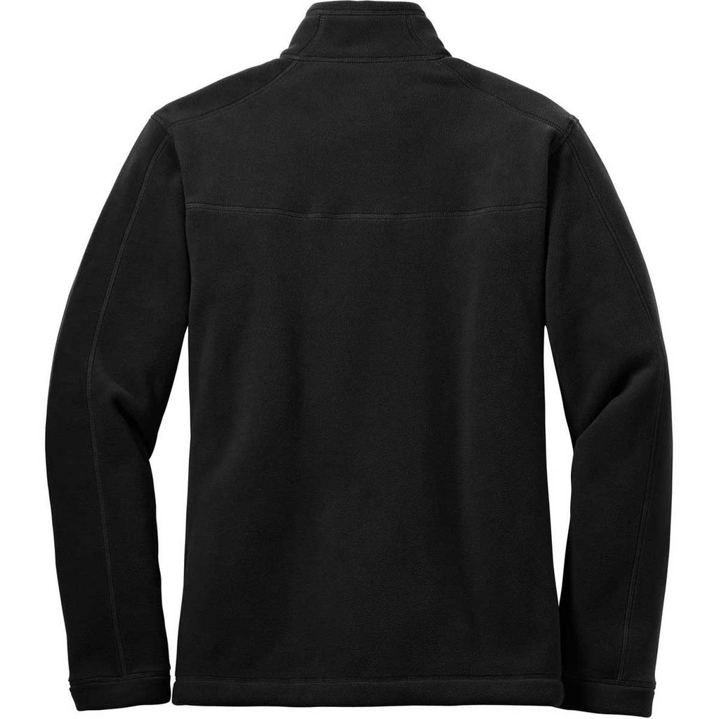 Eddie Bauer Men's Black Wind Resistant Full-Zip Fleece Jacket