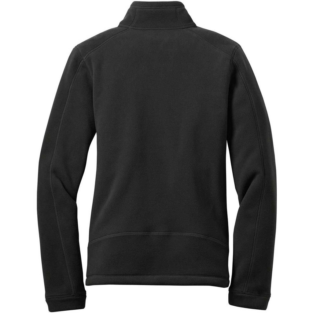 Eddie Bauer Women's Black Wind Resistant Full-Zip Fleece Jacket