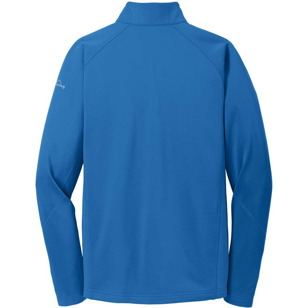 Eddie Bauer Men's Ascent Blue Half Zip Performance Fleece Jacket