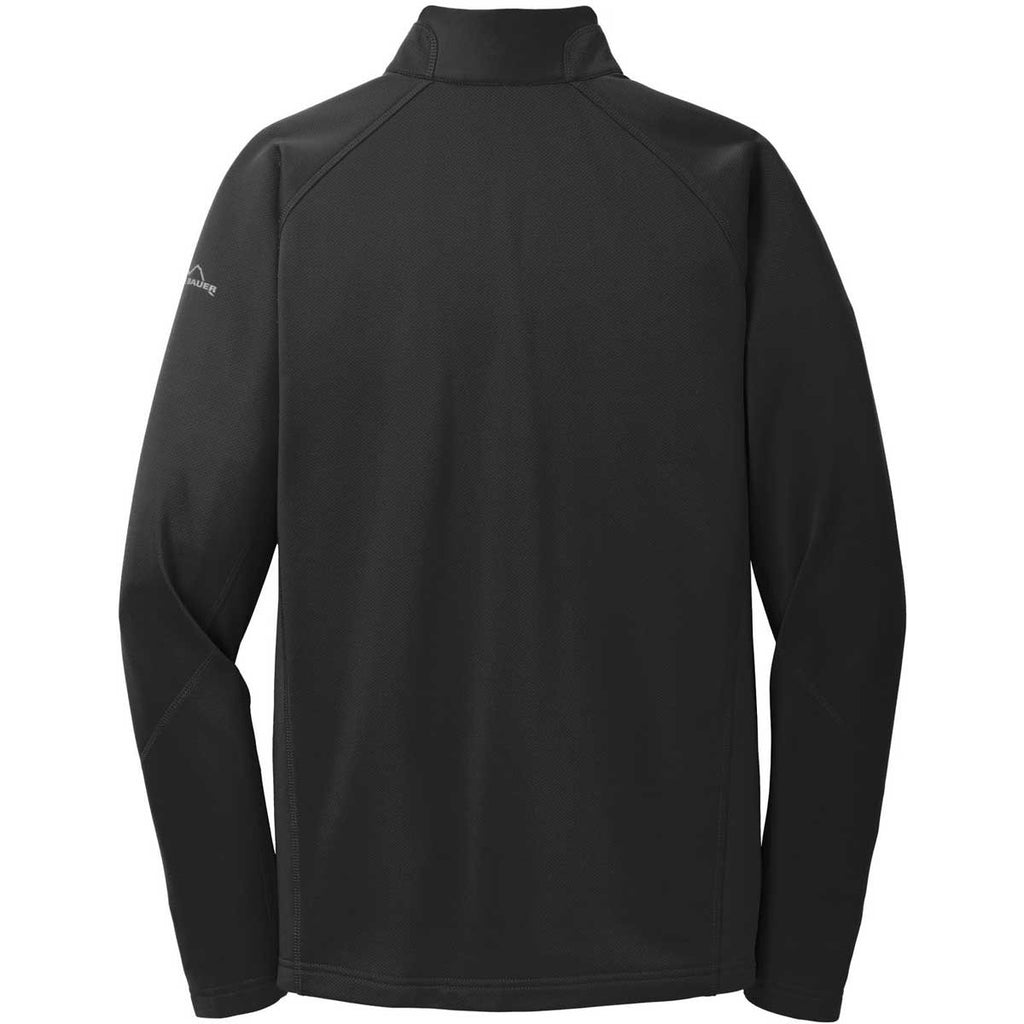 Eddie Bauer Men's Black Half Zip Performance Fleece Jacket