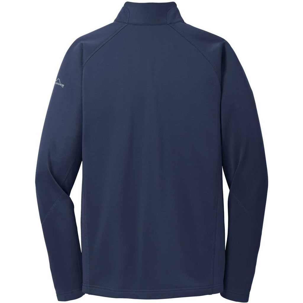 Eddie Bauer Men's River Blue Half Zip Performance Fleece Jacket