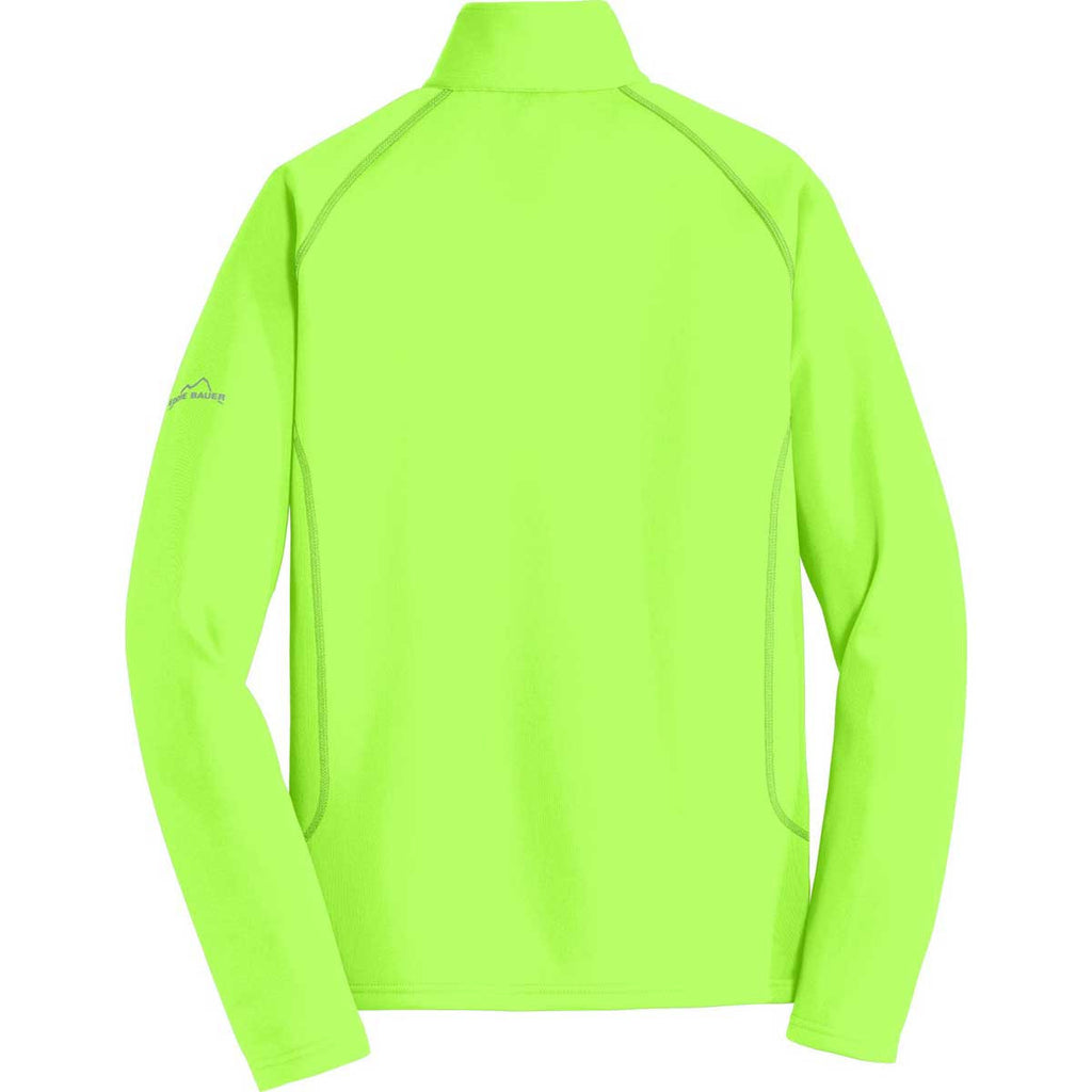 Eddie Bauer Men's Vivid Lime 1/2-Zip Base Layer Fleece