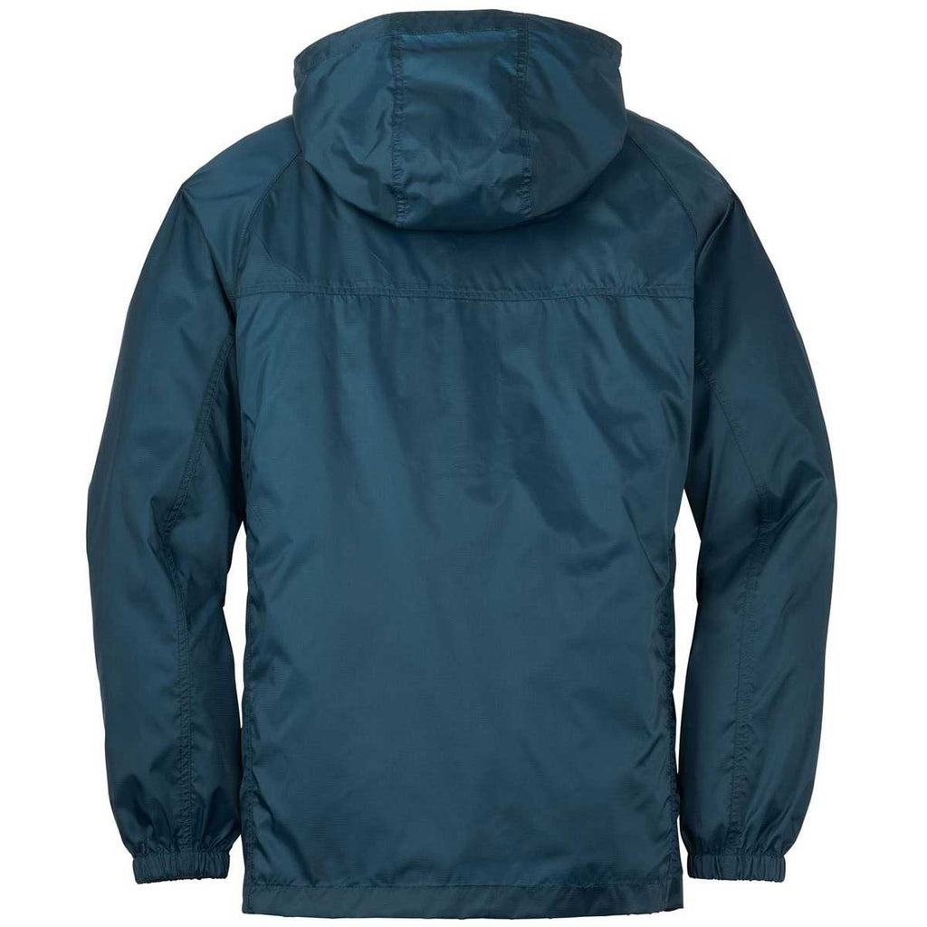 Eddie Bauer Men's Adriatic Blue Packable Wind Jacket