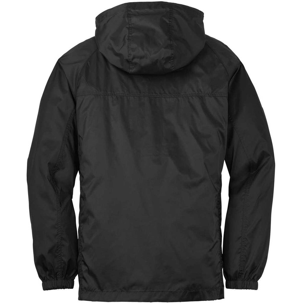 Eddie Bauer Men's Black Packable Wind Jacket